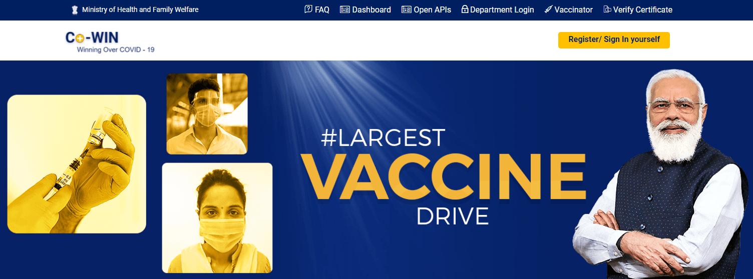 Cowin Vaccine Self Registration