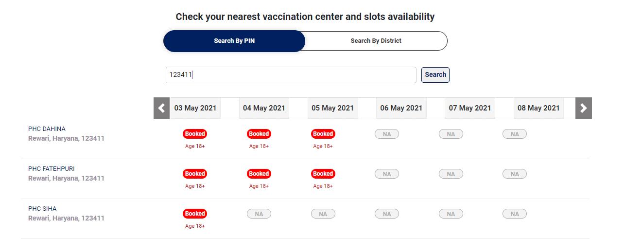 Vaccine Availability
